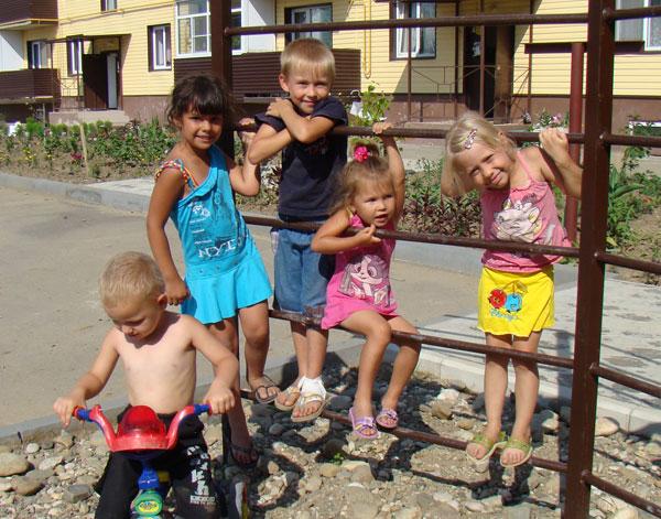 Дети на улице Аэродромной