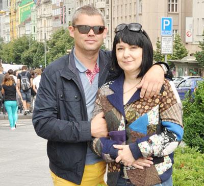 Юрий Суворов с женой