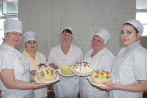 Работницы кондитерского цеха Апшеронского хлебозавода