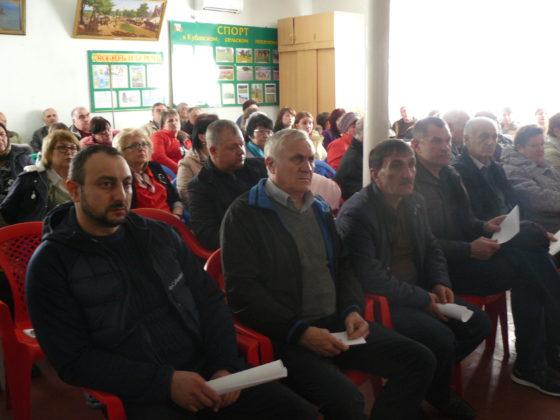 Участники открытой сессии совета Кубанского сельского поселения